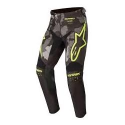 Racer Tactical Pants  Black-Gray Camo-Yellow