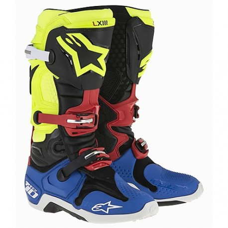 Tech 10 New Black Yellow Blue Red Fl