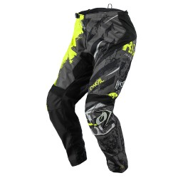 Element Youth Pant Ride Black Neon Yellow