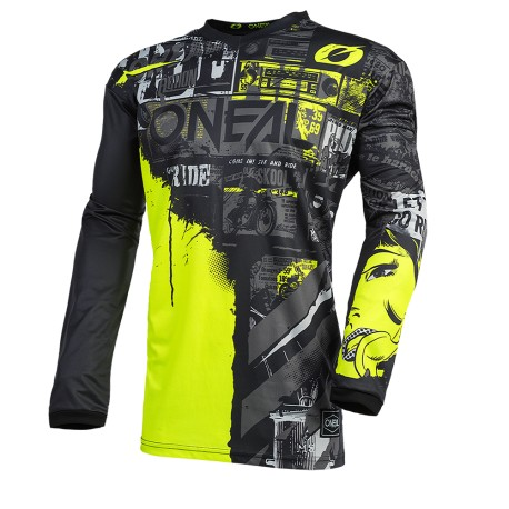 Element  Jersey Racewear Black Neon Yellow