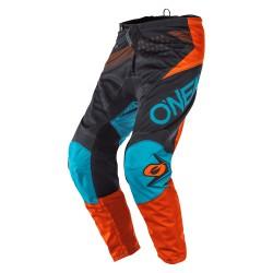 Element Youth Pants Factor Gray Orange Blur