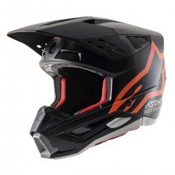 S-M5 Compass Helmet Ece Black Orange Flu Org