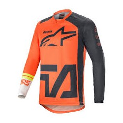 Racer Compass Jersey Orange Antracite Off Wh