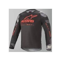 Youth Racer Tactical Jersey Grey Camo Red Fl