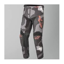 Youth Racer Tactical Pants Grey Camo Red Fl