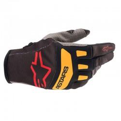 Techstar Gloves Black Bright Red Orange