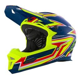 Fury Helmet Rapid Blue Neon Yellow