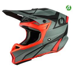 10SRS Hyperlite Helmet Compact Gray Red