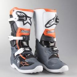 Tech 7 S Black Grey White Orange Fl