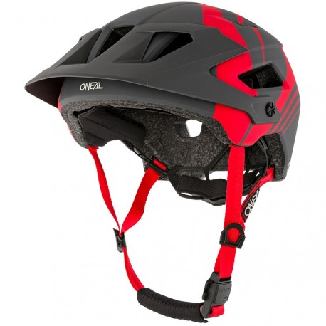 Defender Helmet Nova Gray Red