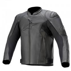 Faster V2 Leather Jacket Black