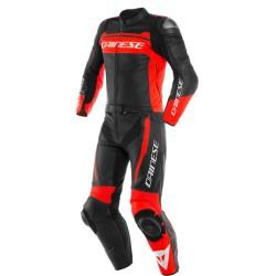 Mistel 2PCS Leather Suit Black Matt White Lava red