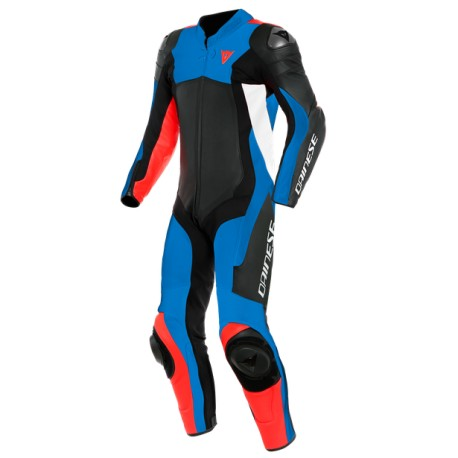 Assen 2 Leather Black-Blue-Fluo Red