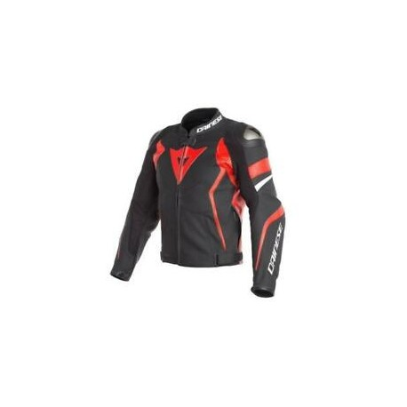 Avro 4 Lather Jacket Black Matt Red