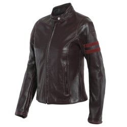 Arielle D72 lady Leather Jacket Winetasting Rhubar