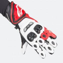 GP-Tech Gloves White Red Black