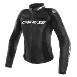 Racing 3 Leather Jacket Black