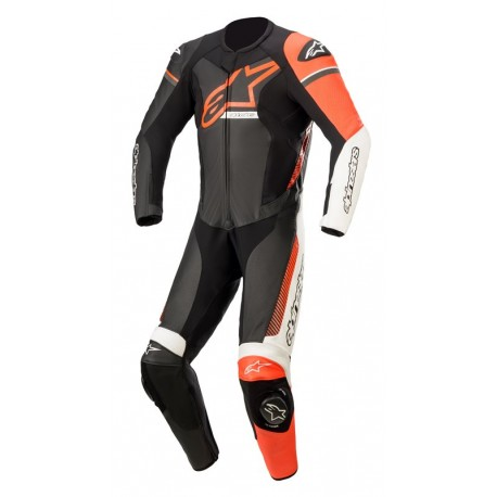 Gp Force Phantom Leather Black-White-Red Fluo