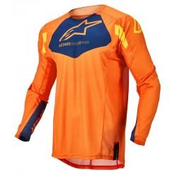 Techstar Factory Jersey Orange Dark Blue Warm Yellow