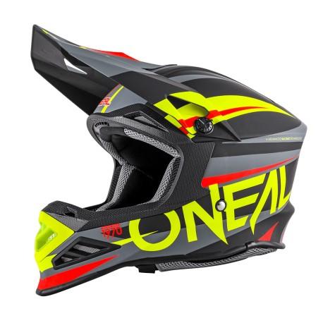 2SRS Helmet Rush V.22 Red Neon yellow