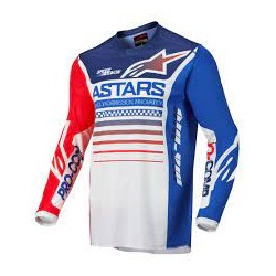 Racer Compass Jersey Off White Red Fluo Blue