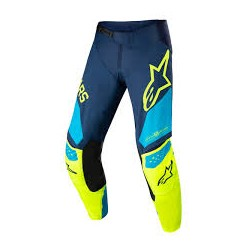 Youth Racer Factory Pant Dark Blue Yellow Fluo Blue Neo