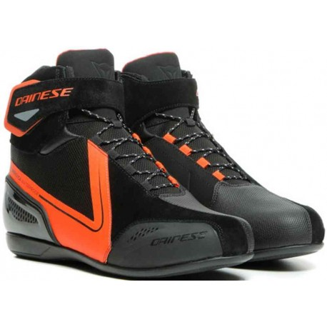 Energica D-Wp Shoes Black Fluo Red