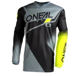 Element  Jersey Racewear V.22 Black Gray Neon Yellow