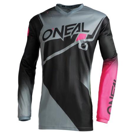 Element Jersey Racewear Womens Black Grey Pink