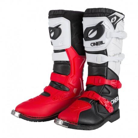 Rider Pro Boot Black White Red