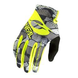Matrix youth glove camo v22 gray/neon yellow