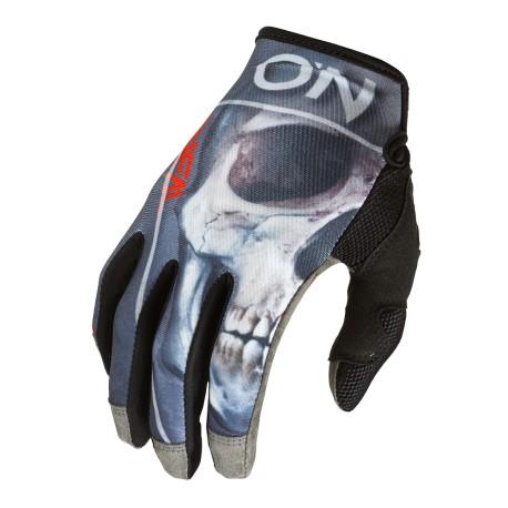 MayHem Glove bones black red